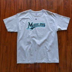 Majestic MLB Florida Marlins Giancarlo Stanton Tee